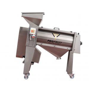 Destoning and pulping machine