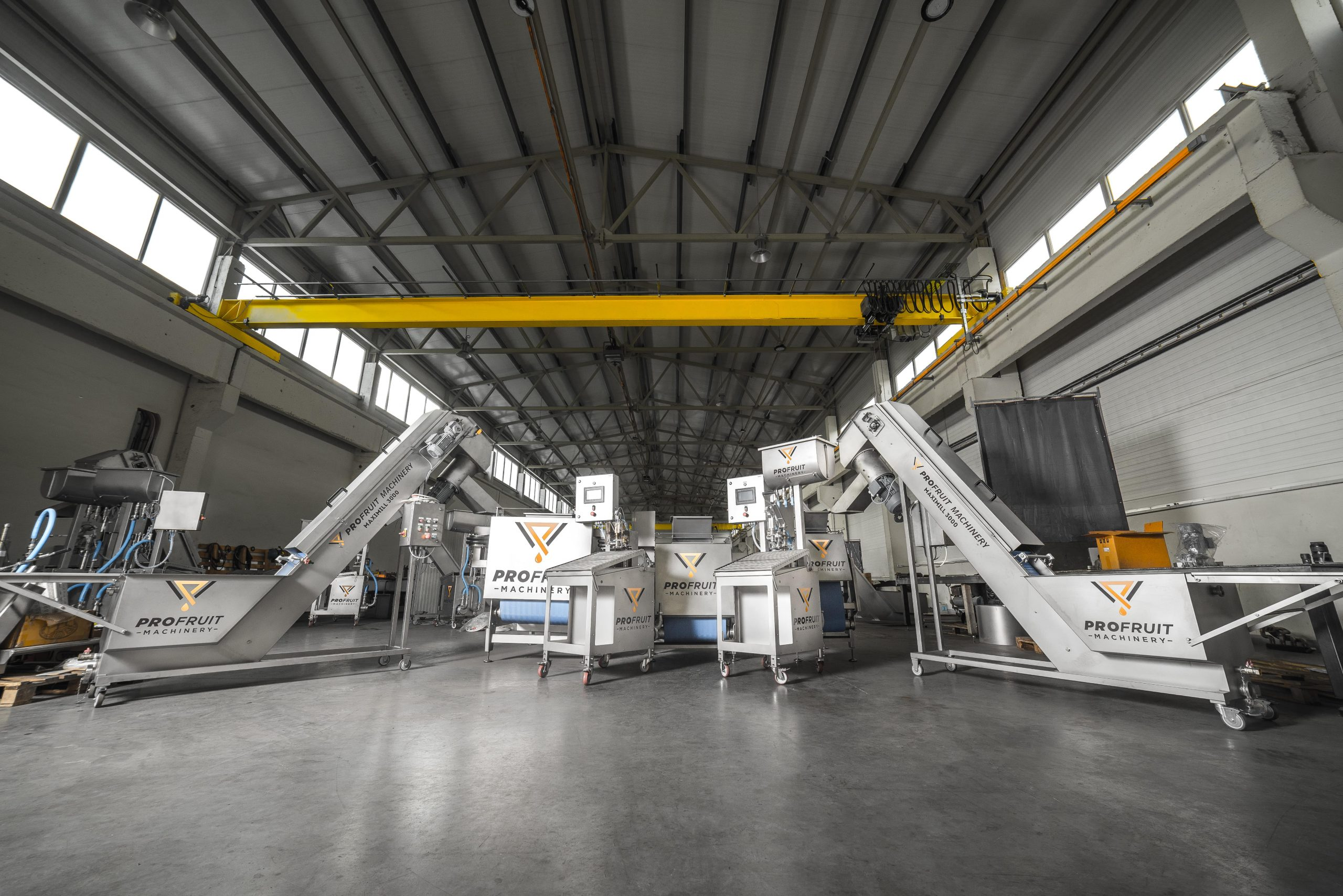 Fruit processing and filling machinery assortment